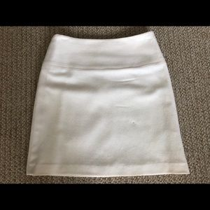 BR cream wool mini skirt